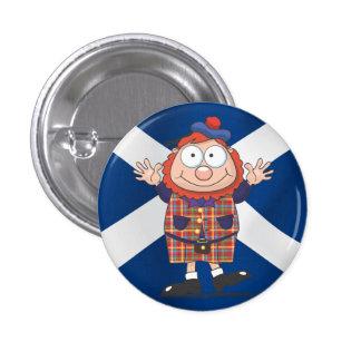 Wee Scottish guy 1 Inch Round Button