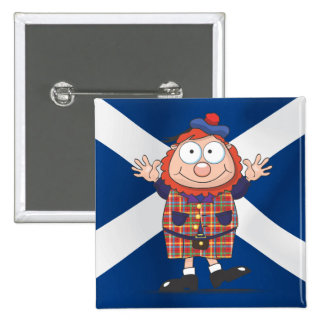 Wee Scottish guy 2 Inch Square Button