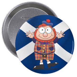 Wee Scottish guy 4 Inch Round Button