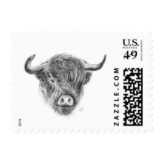 Wee Scottish Highland Cow Postage