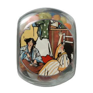 Wee sma' hours glass candy jars