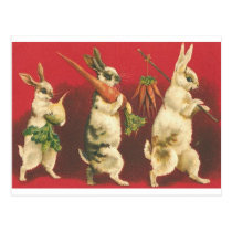 Wee Three Rabbits Postcard
