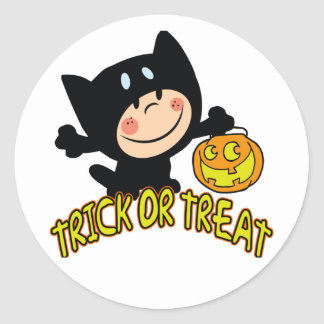 Wee Trick Or Treater Halloween Sticker