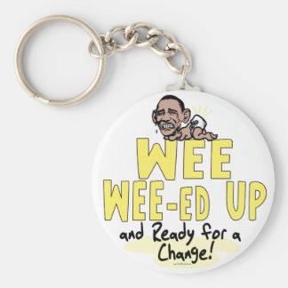 Wee Wee-ed Up Anti Obama Gear Keychain