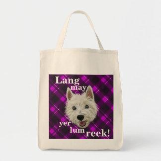 Wee Westie. Lang May Yer Lum Reek! Tote Bag