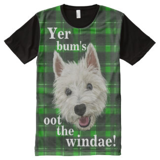 Wee Westie's Words of Wisdom All-Over Print T-shirt