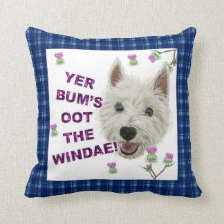 Wee Westie's Words of Wisdom Pillow