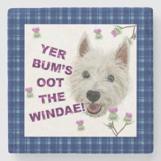 Wee Westie's Words of Wisdom Stone Coaster