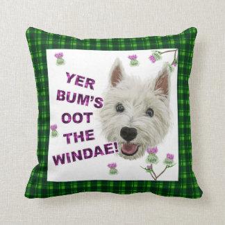 Wee Westie's Words of Wisdom Throw Pillow
