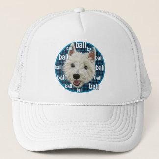 Wee Westie wants a ball! Trucker Hat
