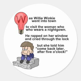 Wee Willie Winkie Classic Round Sticker