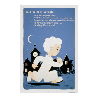 Wee Willie Winkie Library 1940 WPA Poster