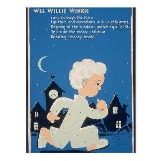 Wee Willie Winkie Postcard