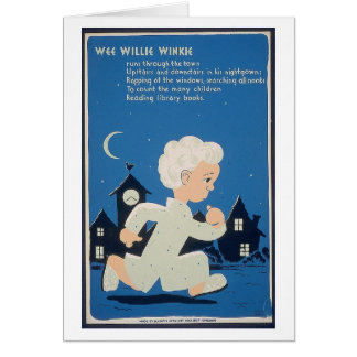 Wee Willie Winkie Stationery Note Card