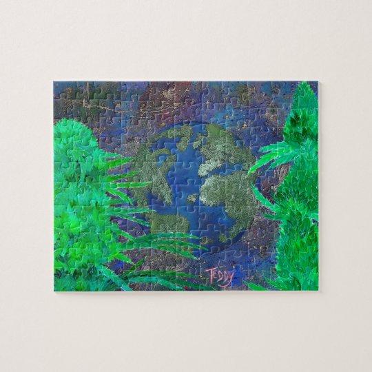 Weed Art The World by ©TeddyArt Jigsaw Puzzle