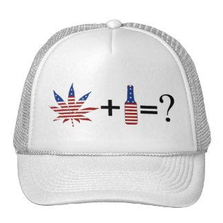 weed beer trucker hat