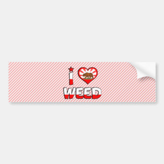 Weed CA Bumper Sticker