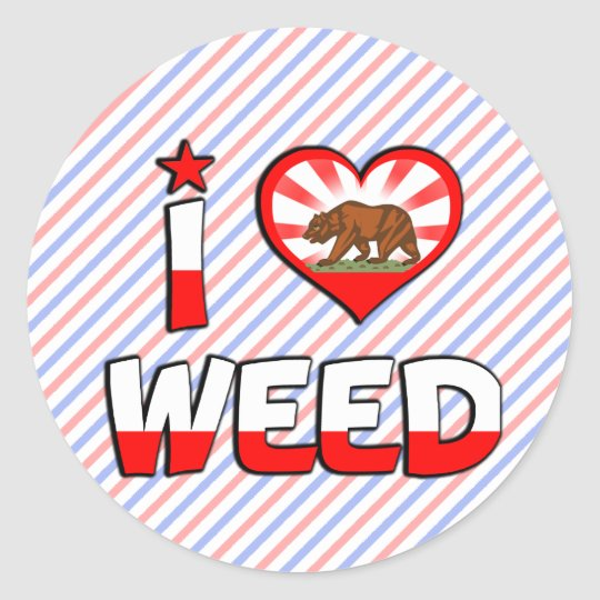 Weed, CA Classic Round Sticker