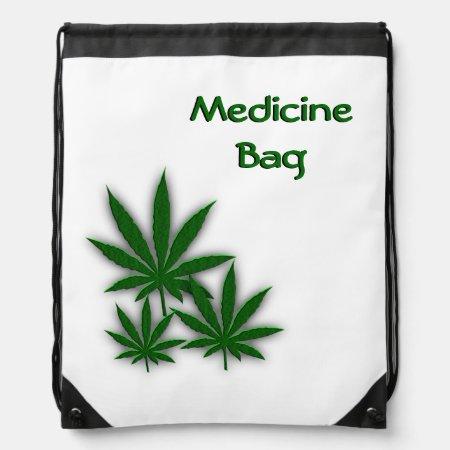 Weed Drawstring Backpacks