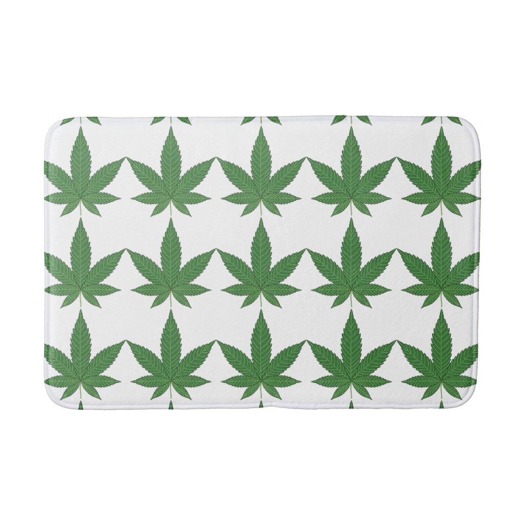 Weed Leaf Bathroom Mat