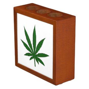 Weed Leaf Desk Organizer