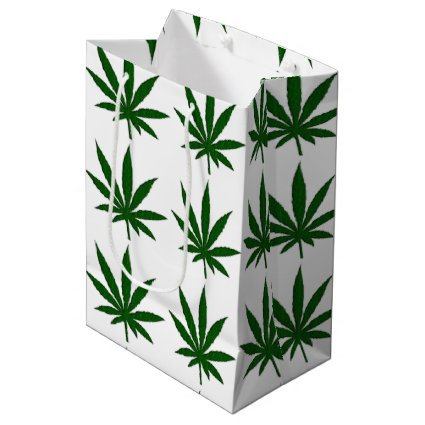 Weed Leaf Medium Gift Bag