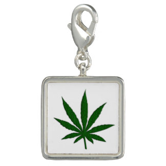 Weed Leaf Photo Charms