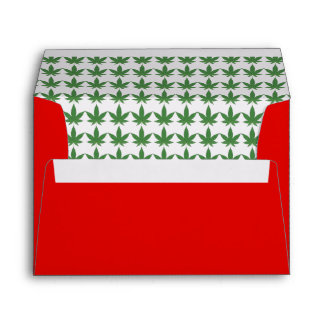 Weed Leaf Pot Luck Personalized Envelope