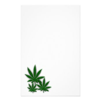 Weed Leaf Stationery