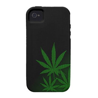Weed Leafs Emerald Green iPhone 4 Cases