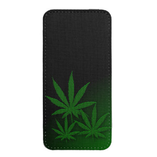 Weed Leafs Emerald Green iPhone 5 Pouch