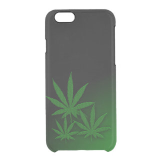 Weed Leafs Emerald Green Uncommon Clearly™ Deflector iPhone 6 Case