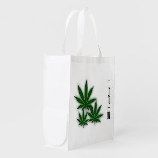 Weed Leaves Stash Reusable Grocery Bags