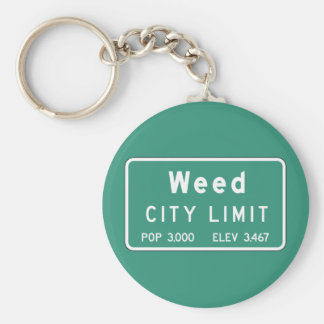 Weed, Road Marker, California, USA Key Chains