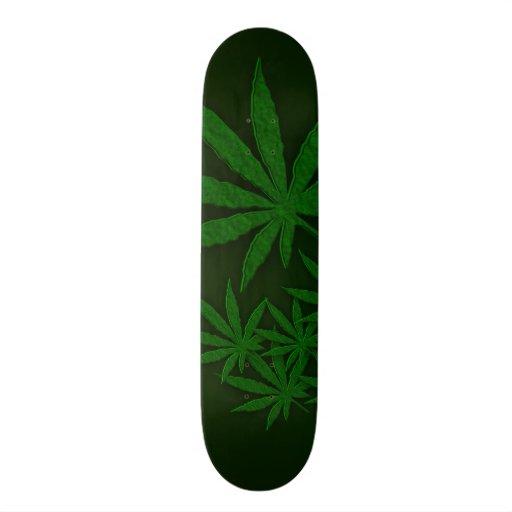 Green Weed Skateboard Deck   Zazzle