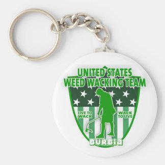 Weed Wacking Team Keychain