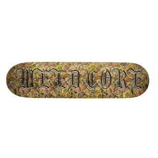 WEEDCORE bud print skate deck