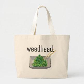weedhead. (alga marina) bolsa tela grande