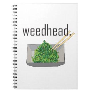 weedhead. (alga marina) note book