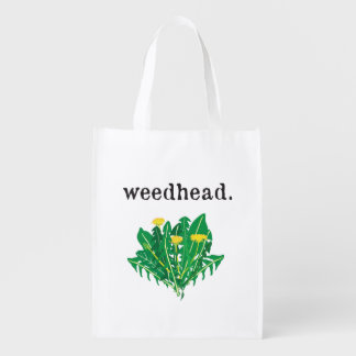 weedhead. (dandelion) grocery bag
