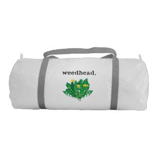 weedhead. (dandelion) gym bag