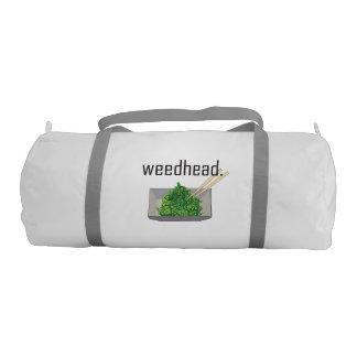 weedhead. (seaweed) gym bag