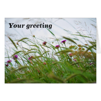 Weeds and Flowers photo notecard