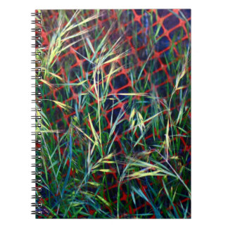 Weeds and Orange Plastic Barrier Abstract Note Book