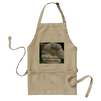Weeds are just Wildflowers Gardeners Apron