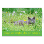 """""""Weeds are people's idea...""""  Happy Spring Card"""