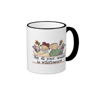 Weeds Be Wildflowers Ringer Coffee Mug
