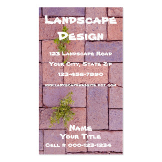 Weeds In The Cracks Photograph Business Card