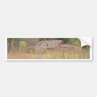 Weeds & Rusted Car Growing in a Field Car Bumper Sticker