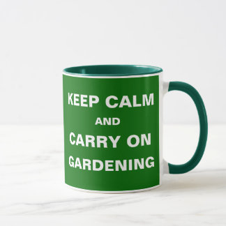 Weeds Taking Over Keep Calm Carry On Gardening Mug